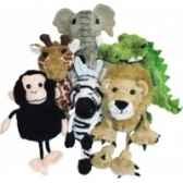 marionnette a doigts lot de 6 animaux d afrique pc002020 the puppet company