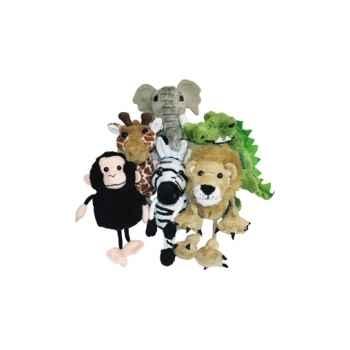 Marionnette à doigts lot de 6 animaux d\'Afrique -PC002020 The Puppet Company