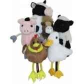 marionnette a doigts lot de 6 animaux de la ferme pc002021 the puppet company