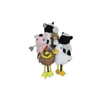 Marionnette à doigts lot de 6 animaux de la ferme -PC002021 The Puppet Company