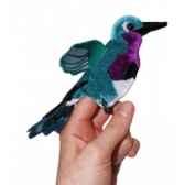 marionnette a doigts oiseau mouche emeraude pc002140 the puppet company