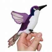 marionnette a doigts oiseau mouche violet pc002142 the puppet company