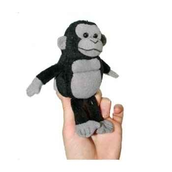 Marionnette à doigts gorille dos gris -PC002126 The Puppet Company