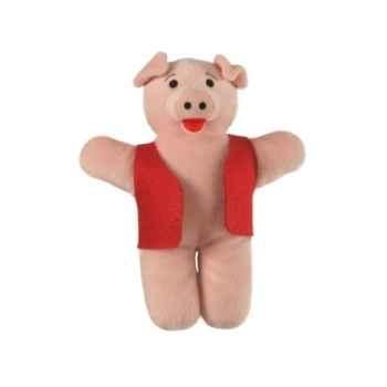 Marionnette à doigts cochon (veste rouge) -PC002189 The Puppet Company