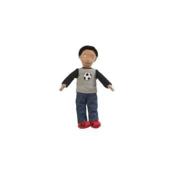 Marionnette à doigts garçon (peau mate) -PC002159 The Puppet Company