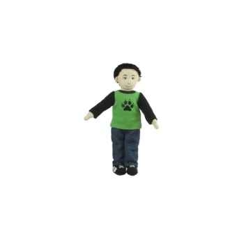 Marionnette à doigts garçon (peau olive) -PC002160 The Puppet Company