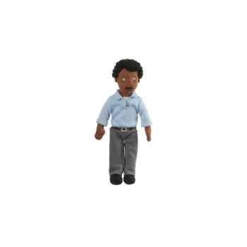 Marionnette à doigts papa (peau noire) -PC002170 The Puppet Company
