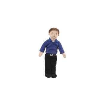 Marionnette à doigts papa (peau blanche) -PC002169 The Puppet Company