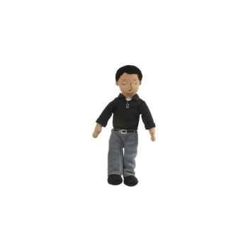 Marionnette à doigts papa (peau mate) -PC002171 The Puppet Company