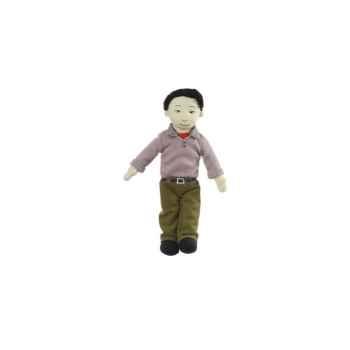 Marionnette à doigts papa (peau olive) -PC002172 The Puppet Company