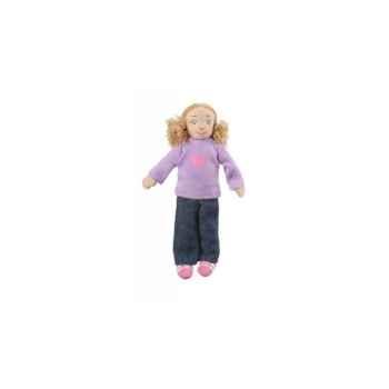 Marionnette à doigts fille (peau blanche) -PC002161 The Puppet Company
