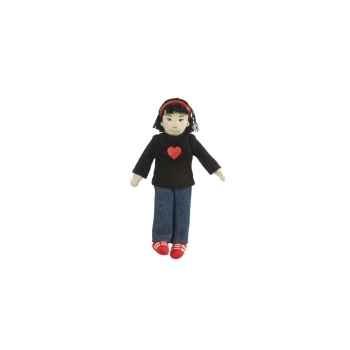 Marionnette à doigts fille (peau olive) -PC002164 The Puppet Company