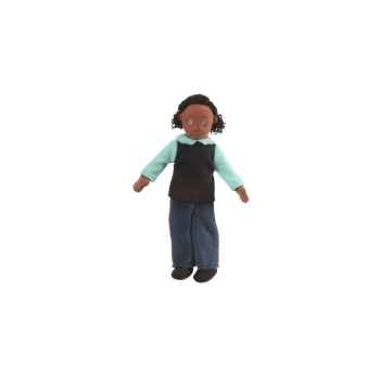 Marionnette à doigts maman (peau noire) -PC002166 The Puppet Company
