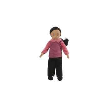 Marionnette à doigts maman (peau mate) -PC002167 The Puppet Company