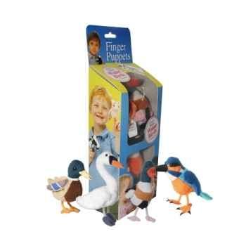 Set marionnette à doigts collection oiseaux eau -PC002506 The Puppet Company