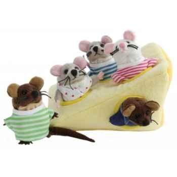 Marionnette souris dans fromage -PC003033 The Puppet Company