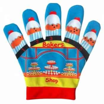 Marionnette gant 5 petits pains -PC003064 The Puppet Company
