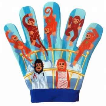 Marionnette gant 5 petits singes -PC003063 The Puppet Company