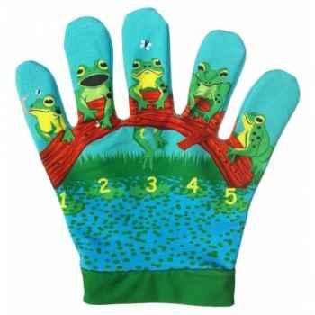 Marionnette gant 5 petites grenouilles -PC003062 The Puppet Company