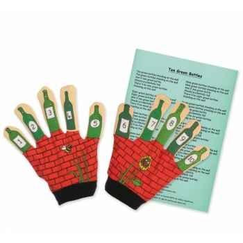 Marionnette gant 10 bouteilles vertes -PC003066 The Puppet Company