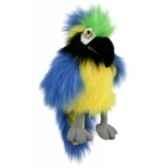 marionnette bebe ara bleu et or pc004202 the puppet company