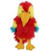 marionnette bebe ara rouge et jaune pc004204 the puppet company