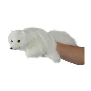 Marionnette peluche furet blanc  -PC006042 The Puppet Company