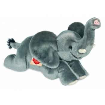 Peluche hermann teddy éléphant couché 40 cm -90741 1