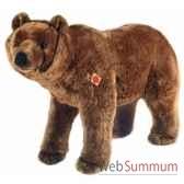 peluche hermann teddy ours brun debout 90 cm 91090 9