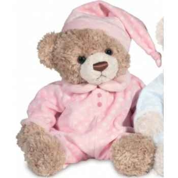 Peluche hermann teddy ours pyjama rose 38 cm -91337 5