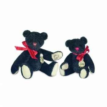 Peluche hermann teddy teddy noir 6 cm -15388 7