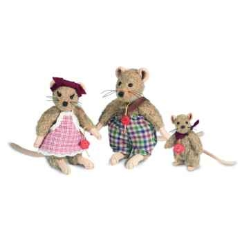 Peluche hermann teddy souris maman 17 cm -17016 7