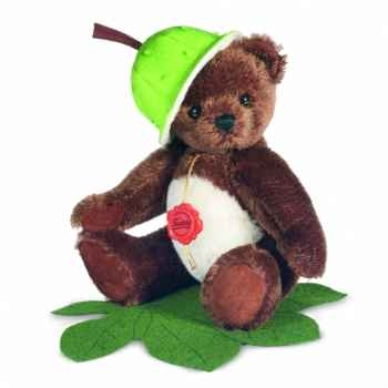 Peluche hermann teddy ours chataigne 19 cm -17020 4