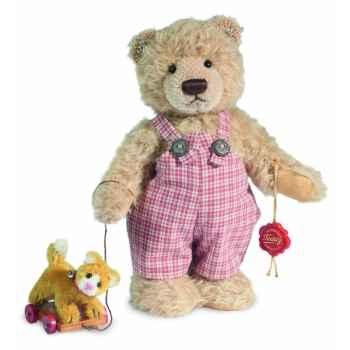 Peluche hermann teddy timmy et chat 24 cm -17025 9