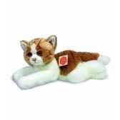 peluche hermann teddy peluche chat couche brun blanc 30 cm 90632 2