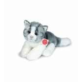peluche hermann teddy peluche chat gris 24 cm 90665 0