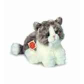 peluche hermann teddy peluche chat assis gris 23 cm 90672 8