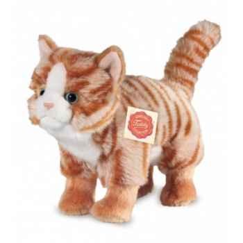 Peluche Hermann Teddy peluche chat tigré roux 20 cm -90674 2