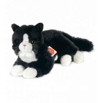 Peluche Hermann Teddy peluche chat noir et blanc 25 cm -90679 7