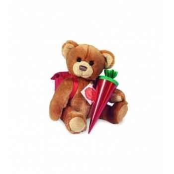 Peluche Hermann Teddy peluche ours elève articulé 22 cm -90923 1