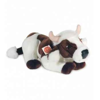 Peluche Hermann Teddy peluche vache marron et blanche 45 cm -91745 8