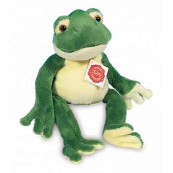 Peluche Hermann Teddy peluche grenouille souple 28 cm -92028 1