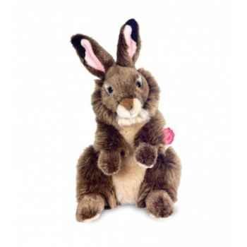 Peluche Hermann Teddy peluche lapin debout brun 28 cm -93740 1