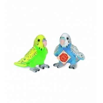 Peluche Hermann Teddy peluche perruche 2 couleurs au choix -94113 2