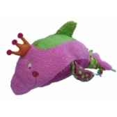 peluche dauphin flo rose 25 cm dushi 60101