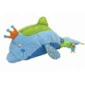 peluche dauphin flo bleu 25 cm dushi 60102