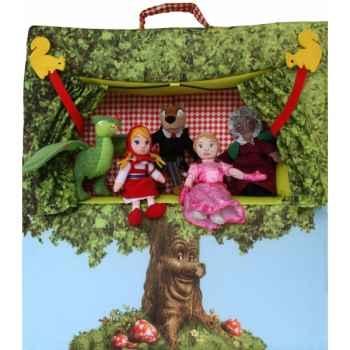 Théâtre avec 5 marionnettes à doigt dushi E92900