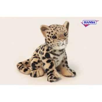 Anima - Peluche bébé léopard assis 18 cm -3423