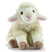 anima peluche agneau blanc 25 cm 1702