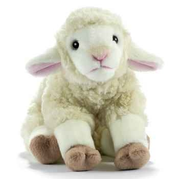 Anima - Peluche agneau blanc 25 cm -1702